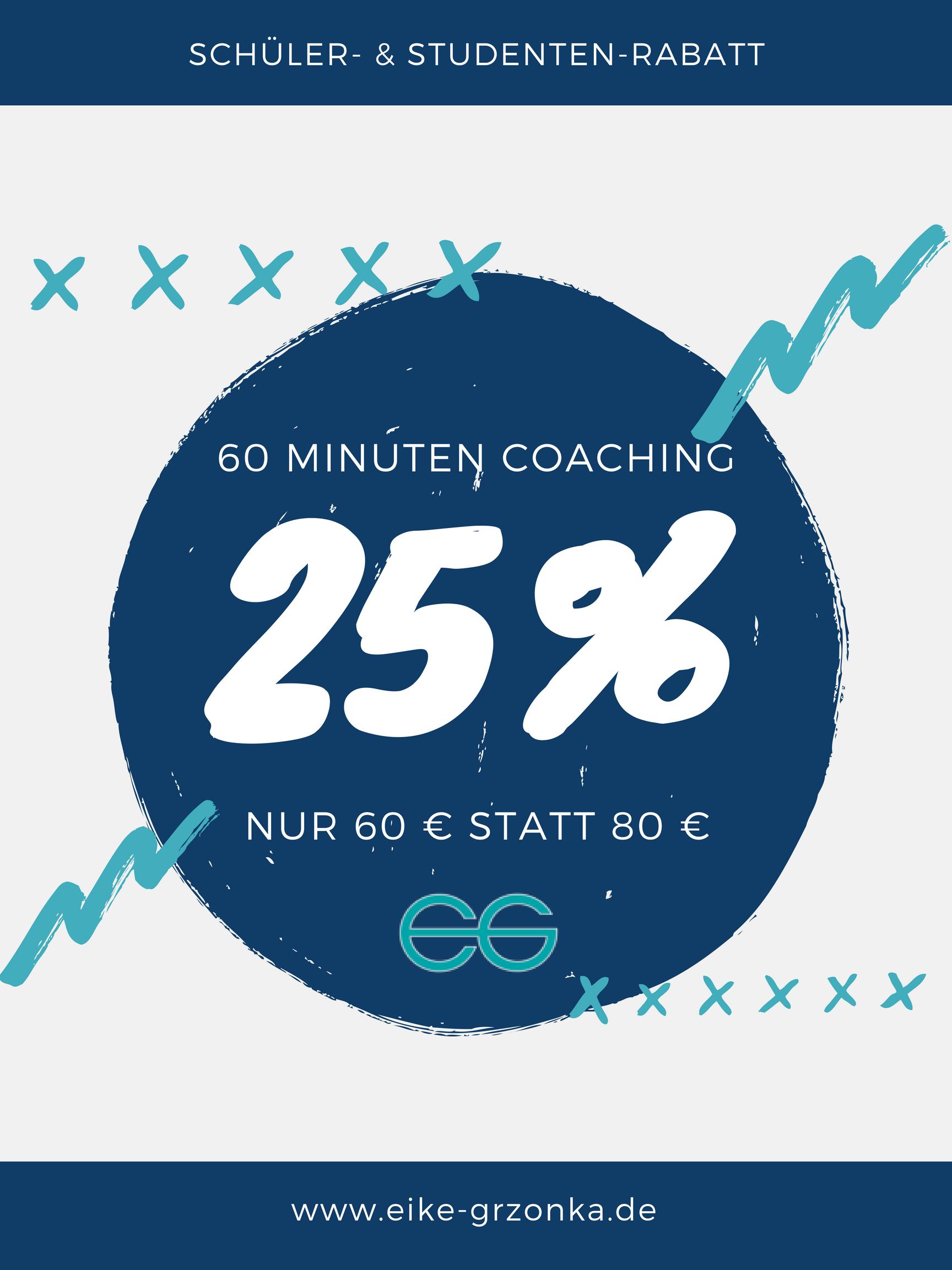 20%Rabatt Coaching Schüler Stundenten von Eike Grzonka